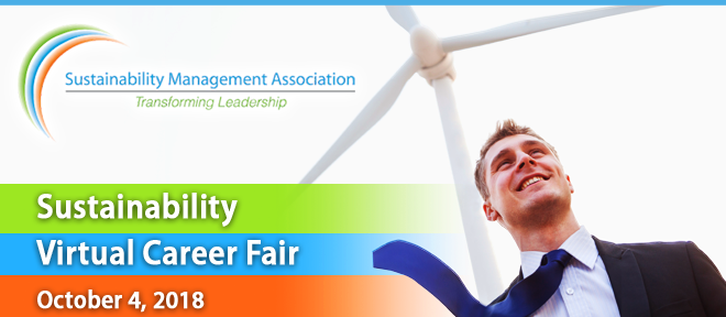 Sustainability Management Association Virtual Career Fair Banner