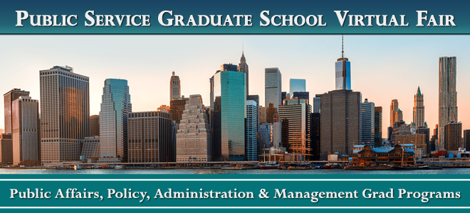 Public Service Grad School Virtual Fair Banner