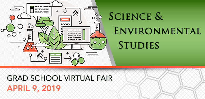 Science & Environmental Studies Graduate School Virtual Fair Banner