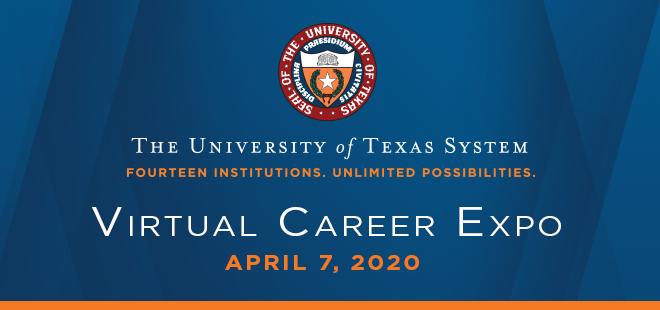 University of Texas System Virtual Career Expo Banner
