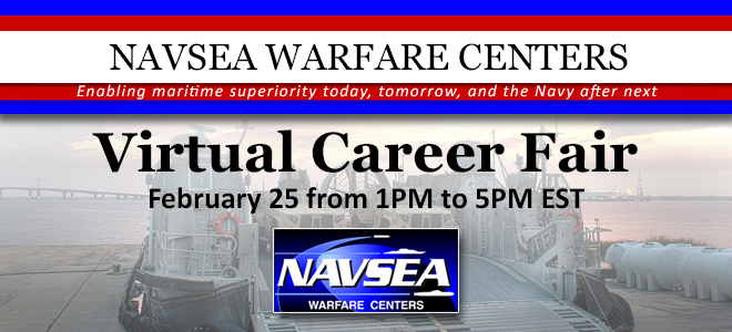 NAVSEA Warfare Centers Virtual Career Fair Banner
