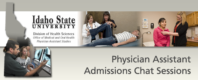 Idaho State Univ. PA Chat Sessions Banner
