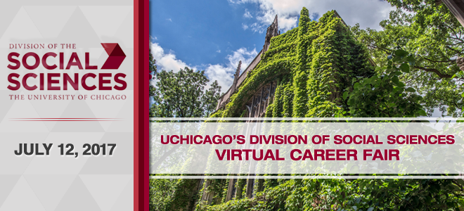 The University of Chicago's Division of Social Sciences Virtual Career Fair Banner