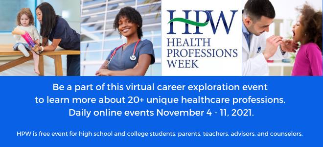 Health Professions Week Virtual Fair  Banner