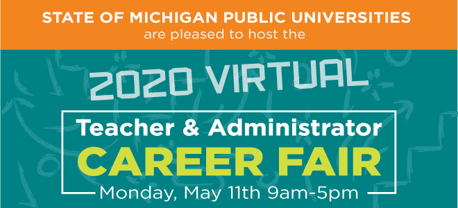 MSU Teachers Virtual Career Fair Banner