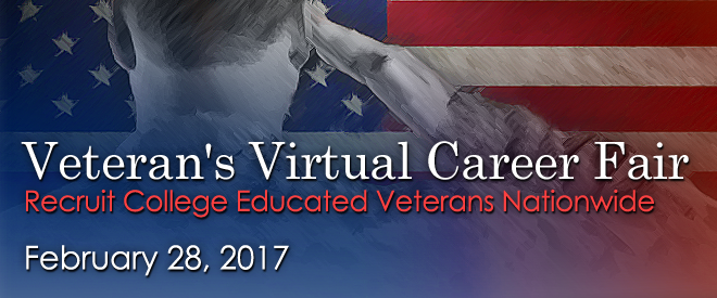 Veterans Virtual Career Fair - Feb. 2017 Banner