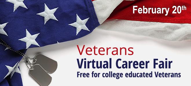 Veterans Virtual Career Fair Banner