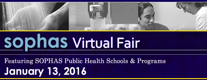 SOPHAS Virtual Fair - Jan. 2016 Banner