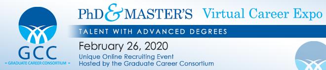 GCC's PhD & Master's Virtual Career Expo Banner