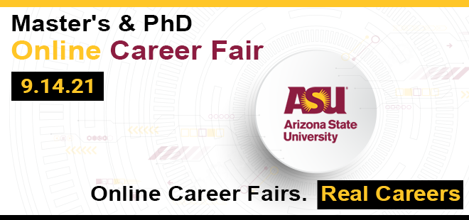 ASU-Fulton Engineering Master's & PhD Online Career Fair Banner