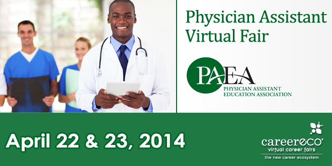 Physician Assistant Virtual Fair (Hosted by PAEA) - April 22-23, 2014 Banner