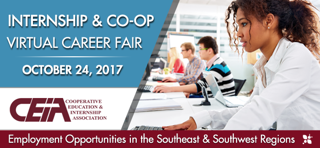 Southeast & Southwest Virtual Career Fair for Internships & Co-ops Banner