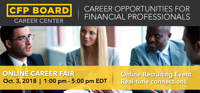 CFP Board Online Career Fair Banner