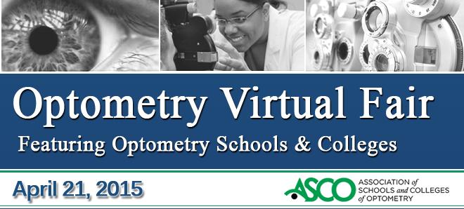 Optometry Virtual Fair - April 2015 Banner