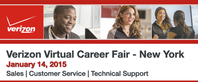 Verizon Virtual Career Fair New York Banner