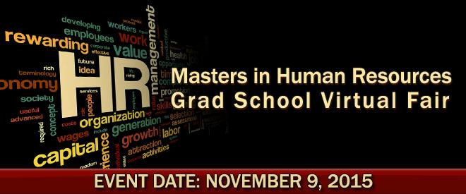 Masters in Human Resources Grad School Virtual Fair Banner