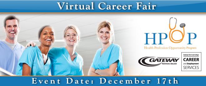 Gateway Technical College Health Careers Job Fair - Dec. 2014 Banner