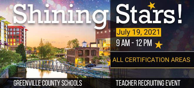 Greenville County Schools Shining Stars Banner