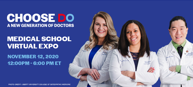 Choose DO Medical School Virtual Expo Banner