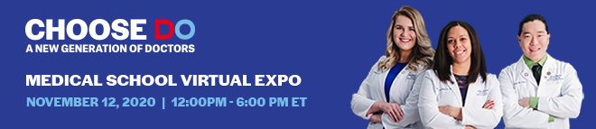 Choose DO Medical School Virtual Expo Banner
