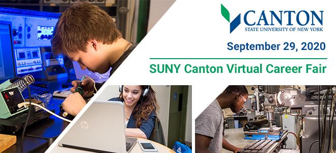 SUNY Canton Virtual Career Fair Banner