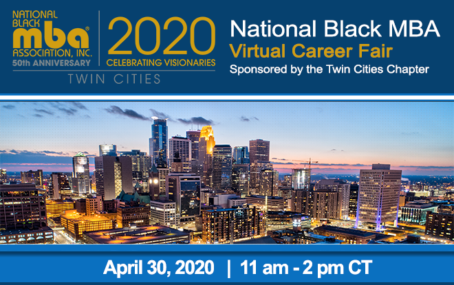 National Black MBA Twin Cities Chapter Virtual Career Fair Banner