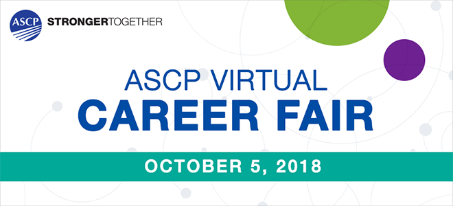 ASCP Virtual Career Fair Banner
