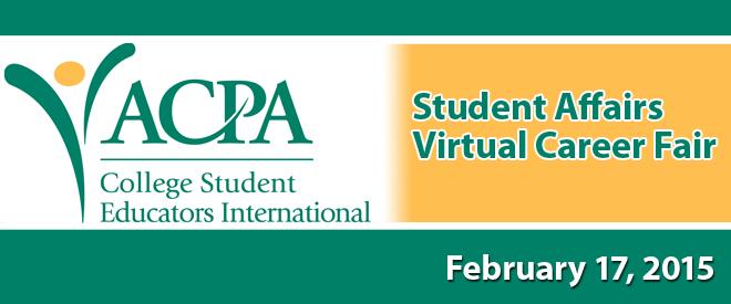 ACPA Student Affairs Virtual Career Fair Banner