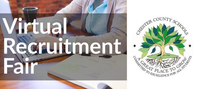 Chester County Schools: Virtual Recruitment Fair Banner