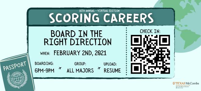 Texas HBSA Scoring Careers Virtual Career Fair Banner