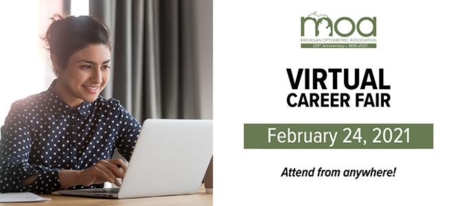 Michigan Optometry Virtual Career Fair Banner