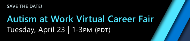 Autism at Work Virtual Career Fair Banner