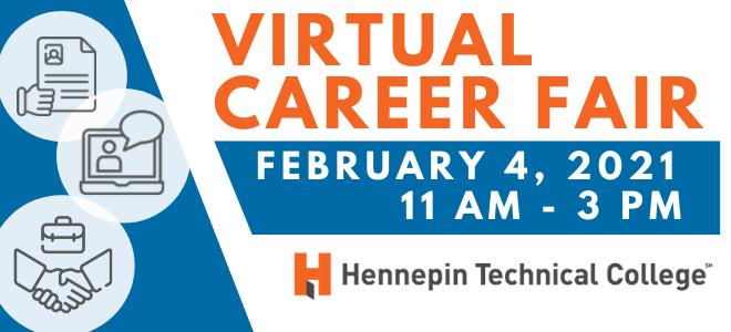 Hennepin Technical College Virtual Career Fair Banner