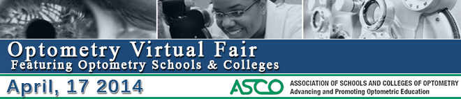 Optometry Virtual Fair (Featuring Optometry Schools & Colleges) Banner