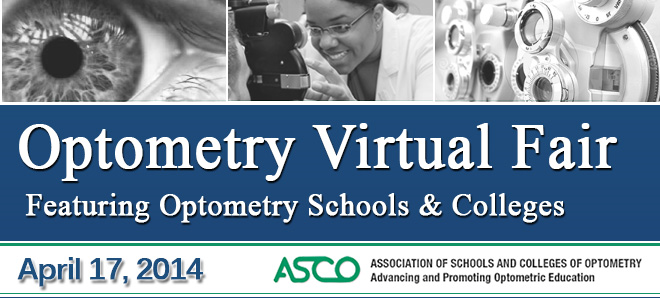 Optometry Virtual Fair (Featuring Optometry Schools & Colleges) - April 2014 Banner