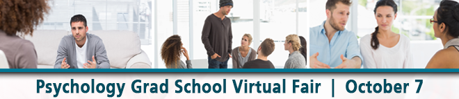 Psychology Grad School Virtual Fair Banner