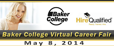 Go to the Baker College Virtual Career Fair website