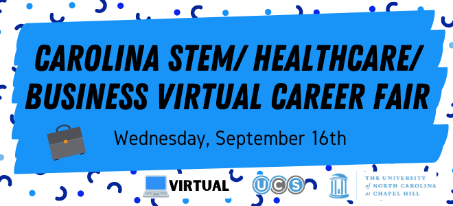 Carolina STEM/Healthcare/Business Virtual Career Fair Banner