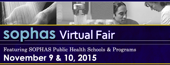 SOPHAS Virtual Fair - Nov. 2015 Banner