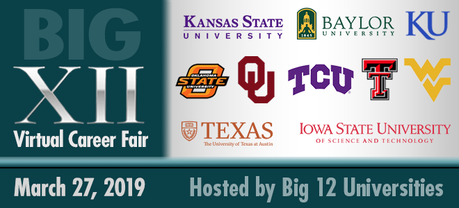 Big 12 Virtual Career Fair Banner