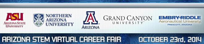 Arizona STEM Virtual Career Fair Banner