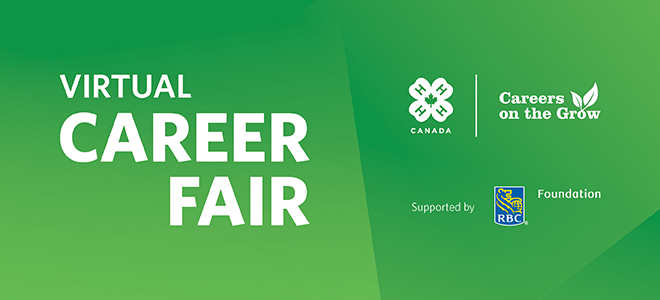 4-H Canada Virtual Career Fair Banner