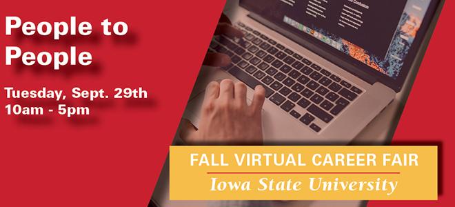 Iowa State University People to People Virtual Career Fair Banner
