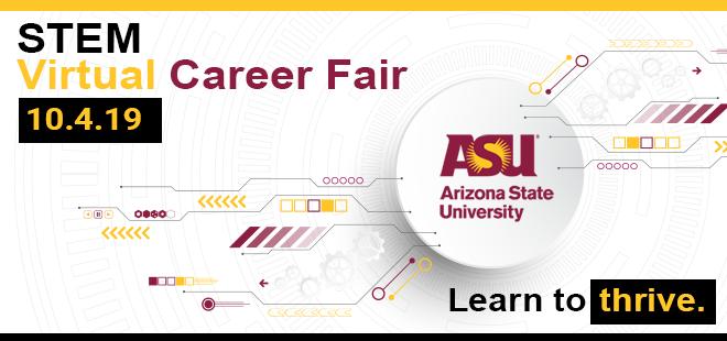 ASU STEM Virtual Career Fair Banner