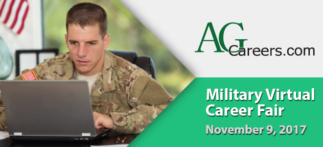 AgCareers.com Military Virtual Career Fair Banner