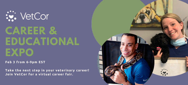 VetCor Career and Educational Expo  Banner