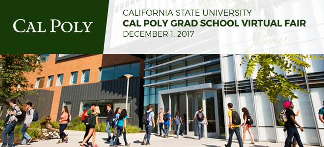 Cal Poly Psychology Grad School Virtual Fair Banner