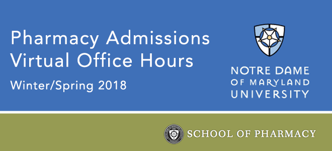 NDMU - Pharmacy Admissions Office Hours Banner