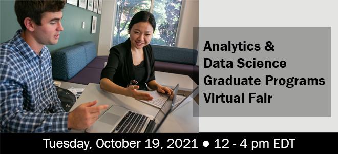 Analytics & Data Science Graduate Programs Virtual Fair Banner