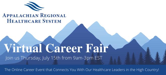 Appalachian Regional Healthcare System Virtual Fair Banner